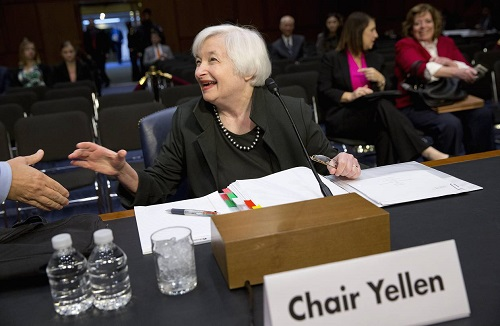 World wait for Fed chair Janet Yellen's speech, today at 1:30PM ET. Yellen could provide clues on future timing of the next rate hike.