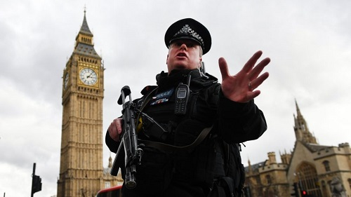 A police officer at near the attack that took place in London